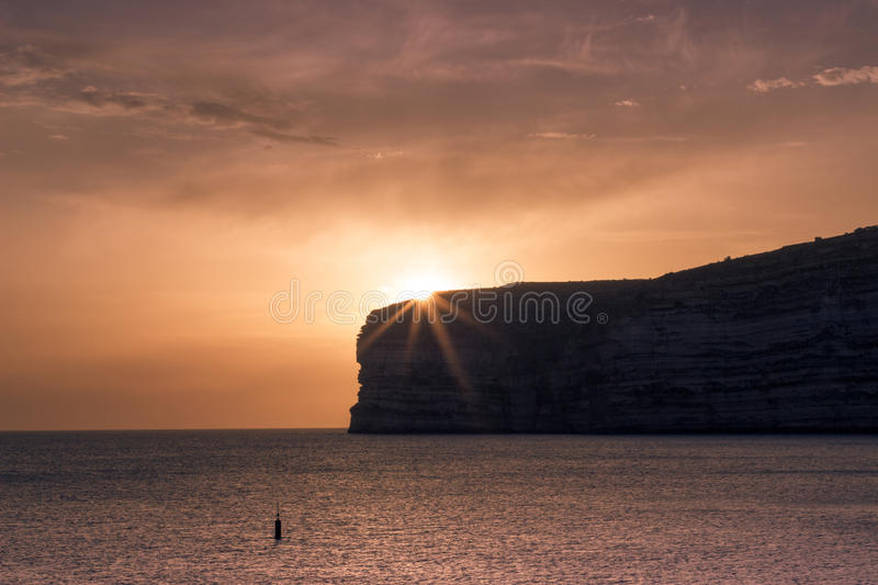 Maltese sunset royalty free stock photography