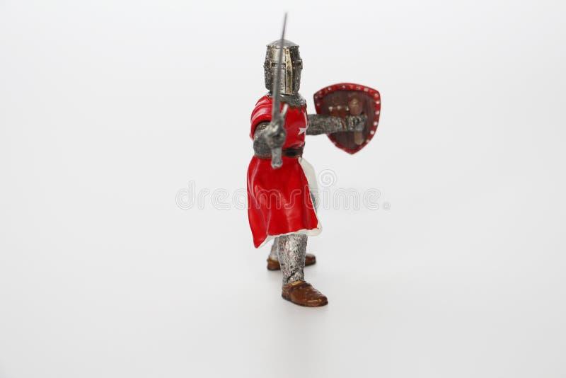 Maltesischer Ritter auf einem wei?en Hintergrund Spielzeug f?r Kinder stockfotografie