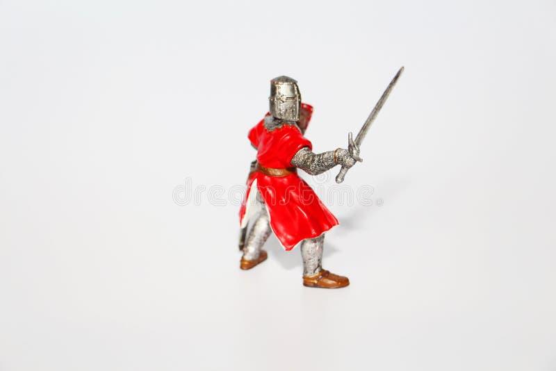 Maltesischer Ritter auf einem wei?en Hintergrund Spielzeug f?r Kinder lizenzfreies stockfoto