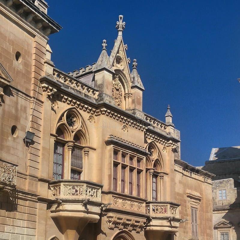 Maltesisk arkitektur arkivfoto