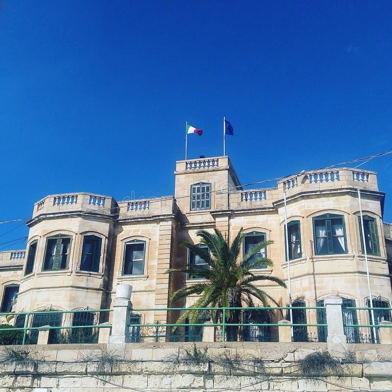 Maltesiskt hus fotografering för bildbyråer