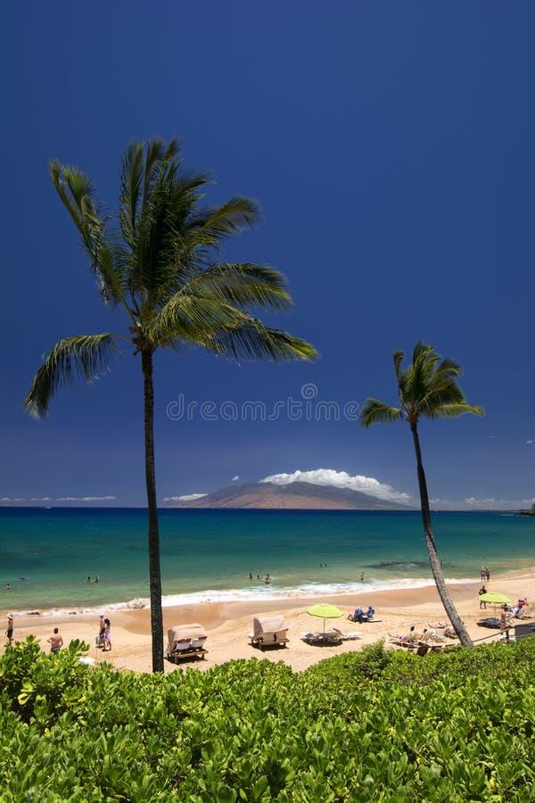 Maluaka strand, södra Maui, Hawaii, USA arkivfoton