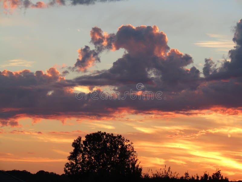 Malujący niebo fotografia stock