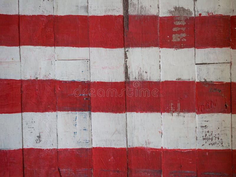 Malująca drewniana deski ściana zdjęcia stock