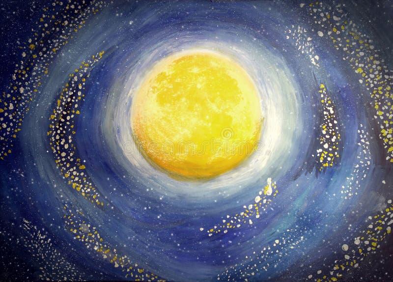 Malująca księżyc ilustracji