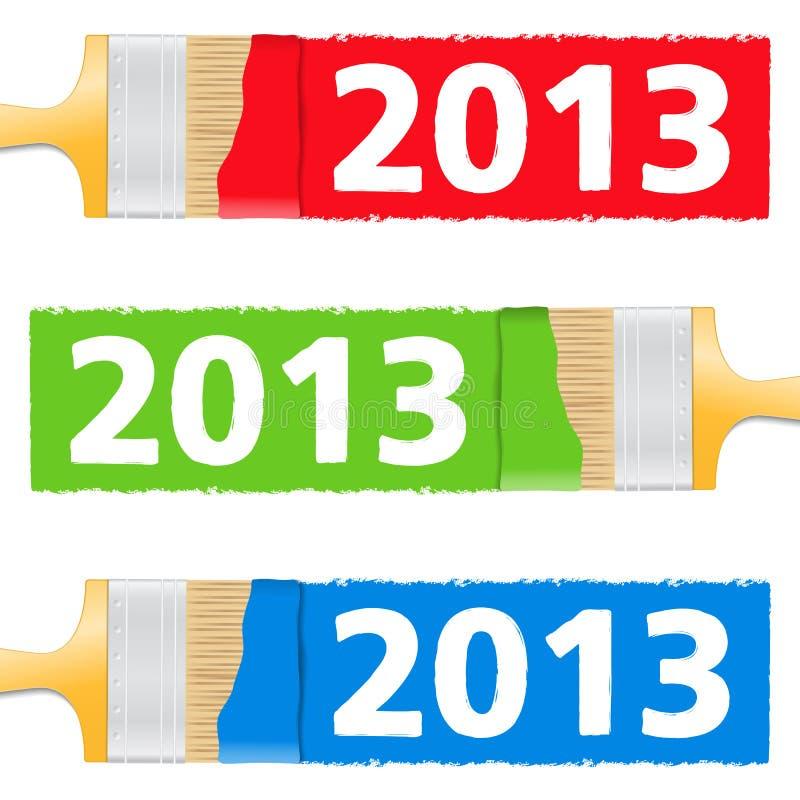 Malująca Liczba 2013 royalty ilustracja