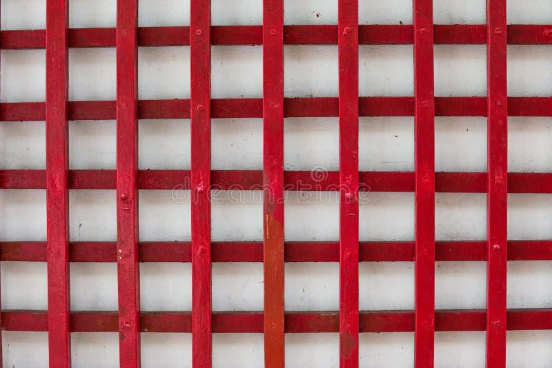 Malująca stara drewniana ściana Czerwony tło obraz royalty free