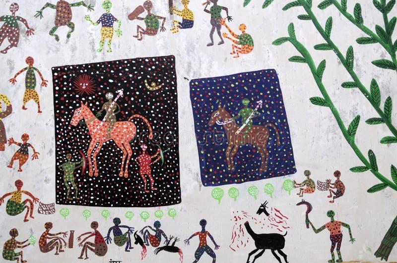 Malująca wioski ściana. obraz royalty free