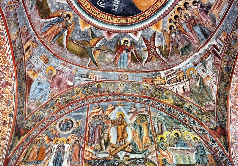 Malujący ścienny fresk zdjęcia royalty free