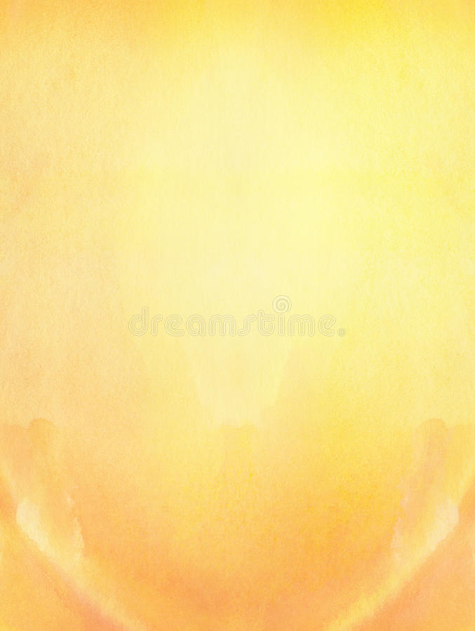 Malujący abstrakcjonistyczny pomarańczowy słońce, jaskrawa wiosna, lata tło zdjęcie stock