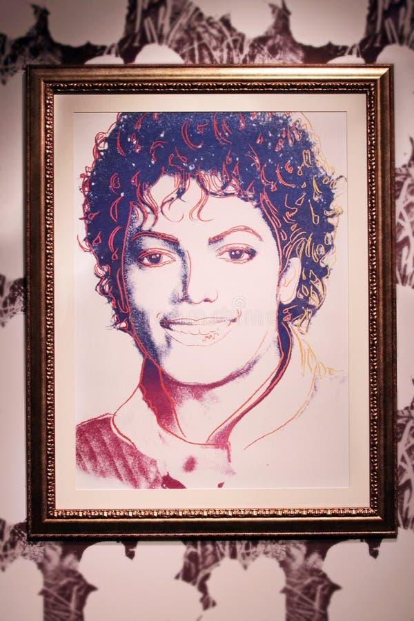 Malujący artystą Andy Warhol Michael Jackson, 1984 zdjęcie royalty free