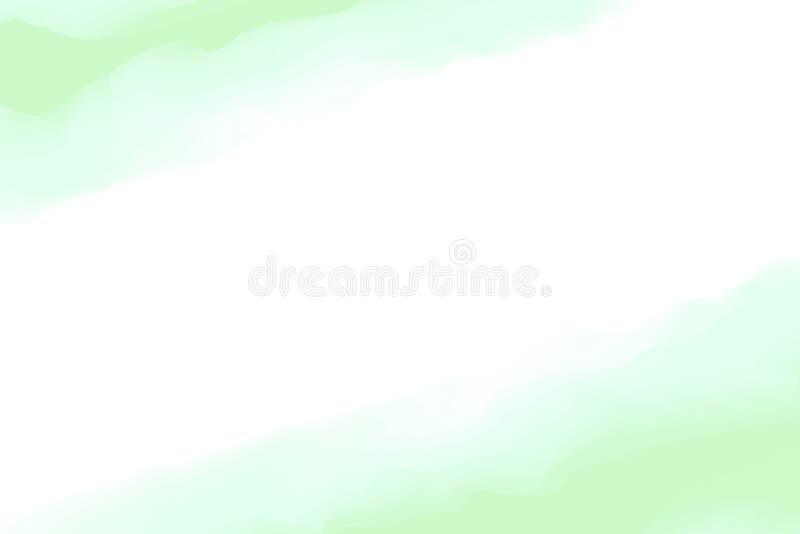 Malujący cyfrowych zielonych kolory miękkich w pojęcie wodnego koloru sztuce, abstrakt ramy zieleni pastelowa miękka część barwi  royalty ilustracja
