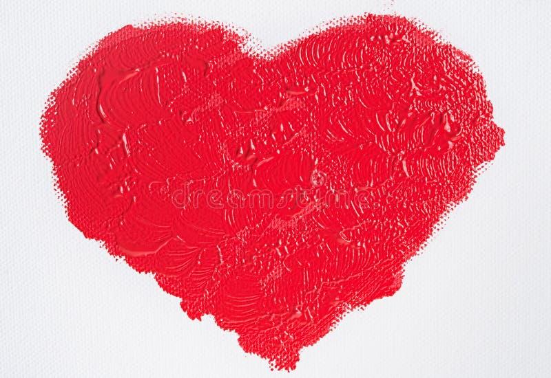 Malujący czerwony serce zdjęcie royalty free