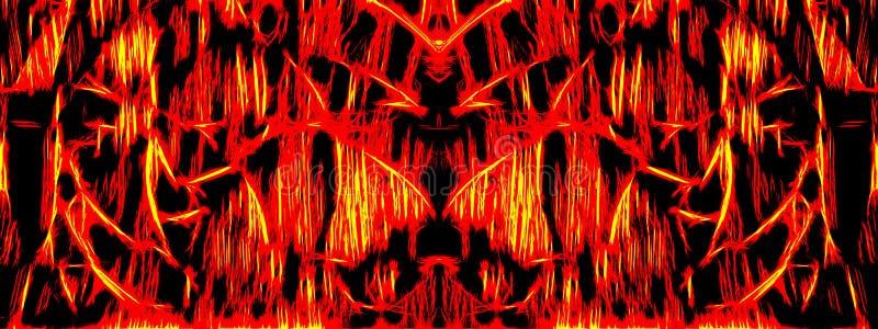 Malujący demonu prawdziwy ciemny abstrakcjonistyczny sztandar ilustracji