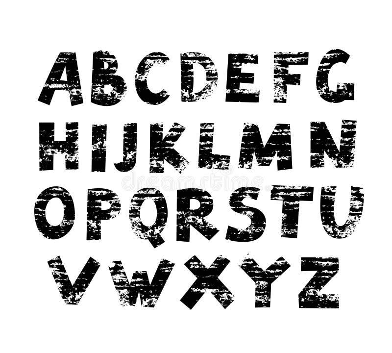 Malujący Grunge ABC ilustracja wektor