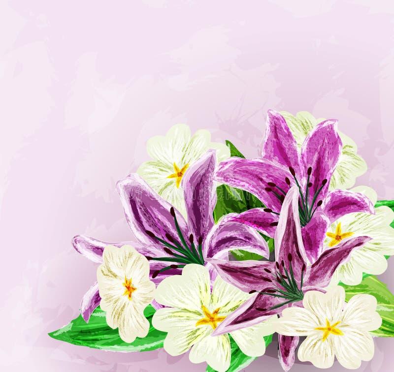 Download Malujący kwiatu tło ilustracji. Ilustracja złożonej z menchie - 28951948