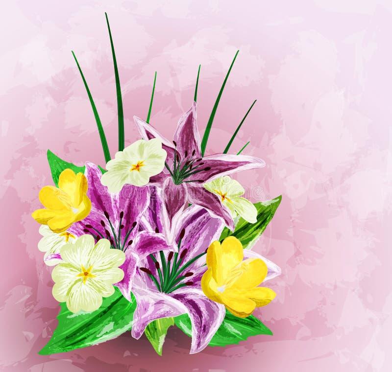 Download Malujący kwiatu tło ilustracji. Ilustracja złożonej z menchie - 28952041