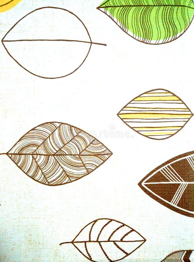 Malujący liść drzewo ilustracja wektor