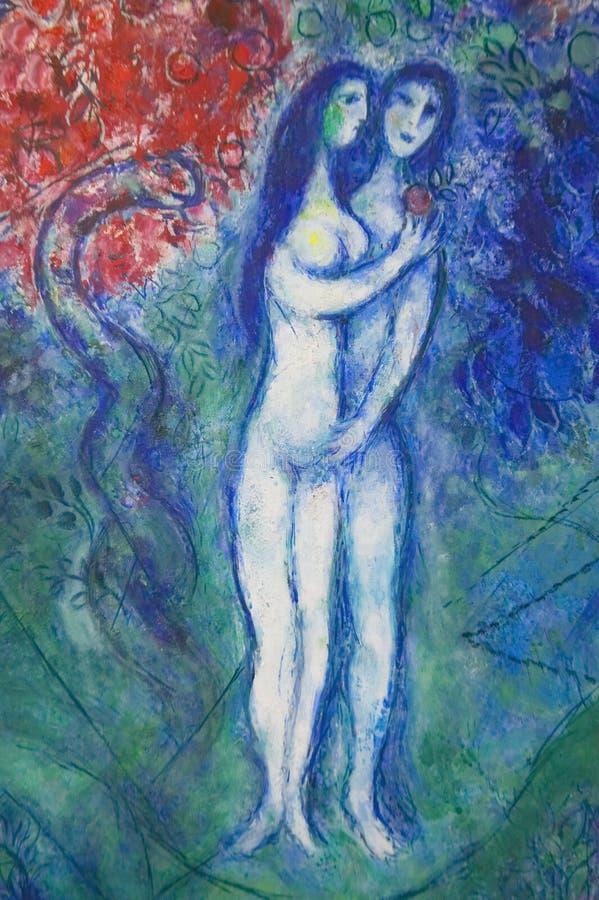 Malujący Marc Chagall, Marc Chagall muzeum, Ładny, Francja fotografia stock