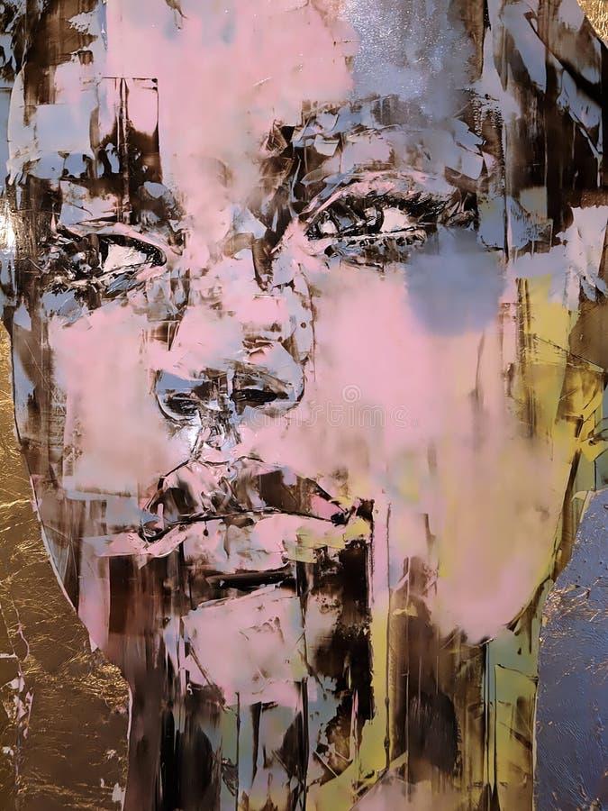 Malujący portret kobieta widzieć w Wenecja obraz stock
