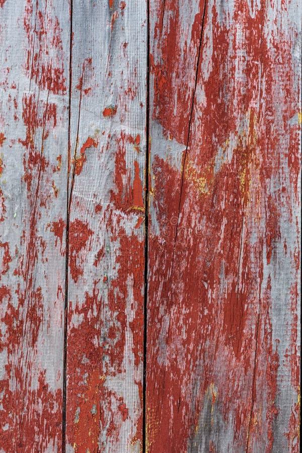 Malujący stary drewniany ścienny czerwony tło zdjęcie stock
