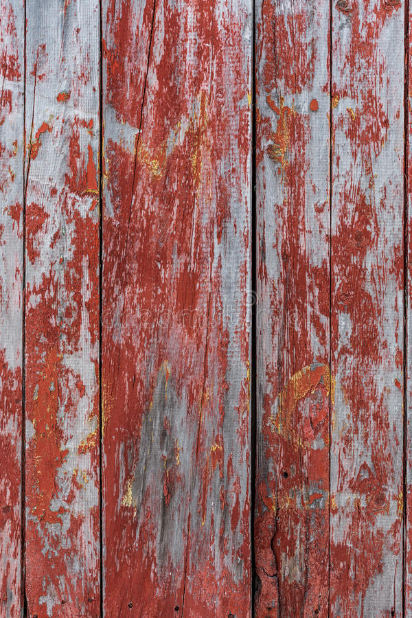 Malujący stary drewniany ścienny czerwony tło obrazy stock