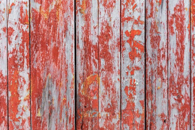 Malujący stary drewniany ścienny czerwony tło zdjęcia royalty free