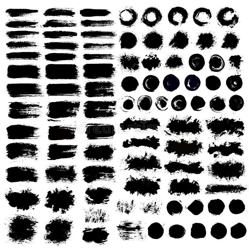 Malujący tła muśnięcia Grungy uderzenia royalty ilustracja