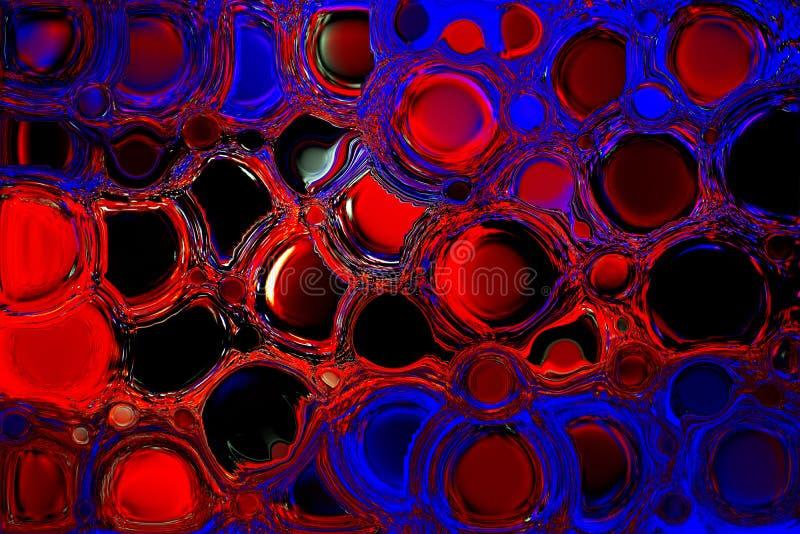 Maluje koloru b??kitnego i czerwie? mieszaj?cego abstrakta t?o farby colour, koloru/ ilustracja wektor