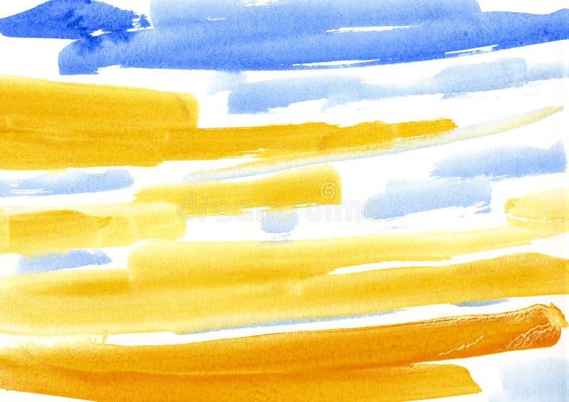 maluje, koloru tło, akwarela, abstrakcjonistyczny obrazu koloru tex ilustracji