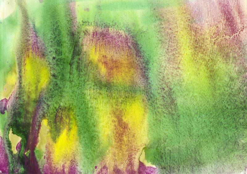 maluje, koloru tło, akwarela, abstrakcjonistyczny obrazu koloru tex zdjęcie stock
