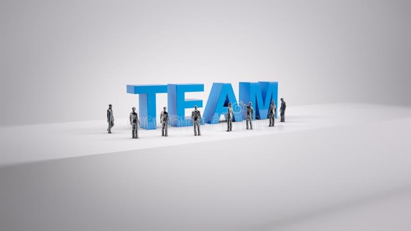 Malutcy ludzie drużyn ilustracja wektor