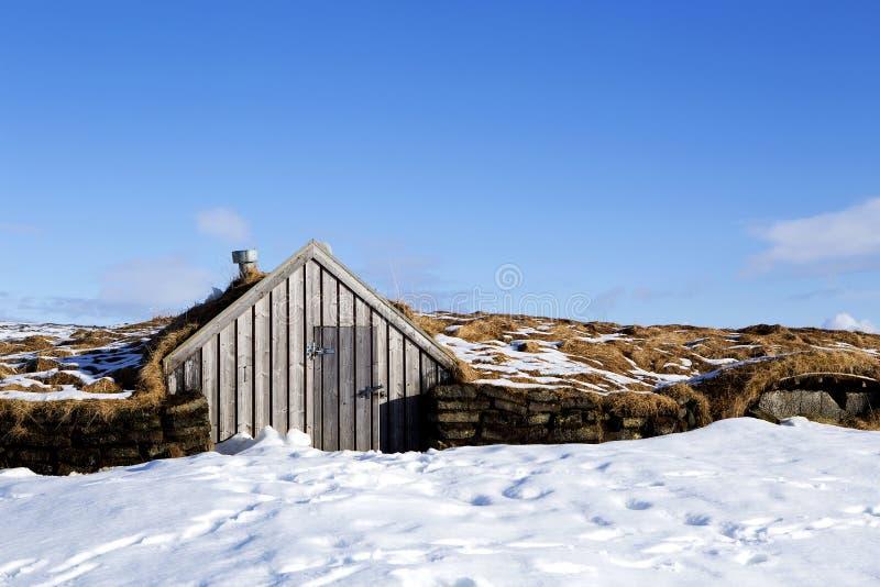 Malutka buda w Iceland obrazy stock