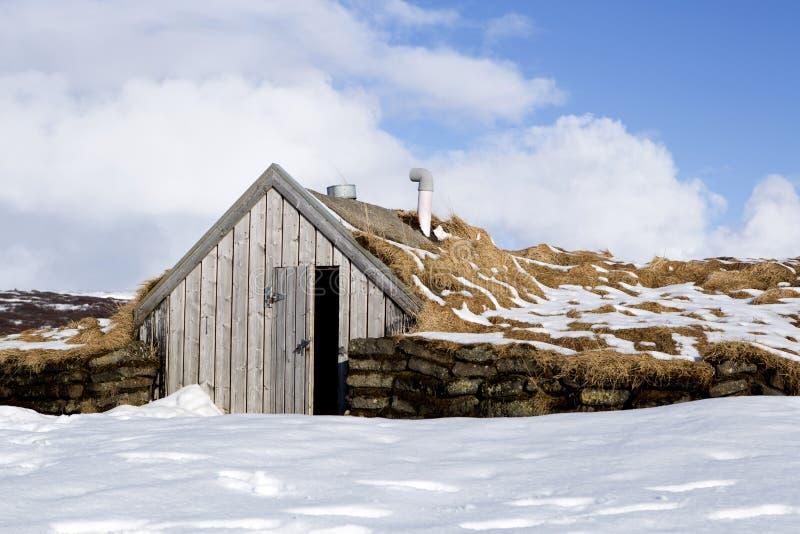 Malutka buda w Iceland fotografia royalty free
