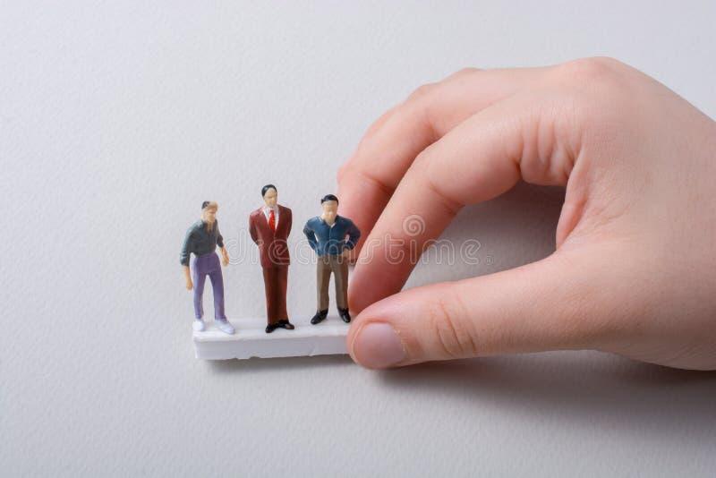 Malutka figurka mężczyzna model w widoku zdjęcie royalty free