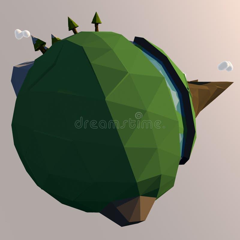 Malutka kreskówki planety ziemi ilustracja royalty ilustracja