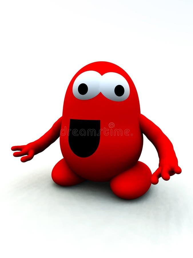 Malutki Czerwony Potwór 12 ilustracja wektor