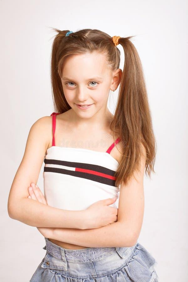 malutki uśmiech, słodką dziewczyną zdjęcie royalty free