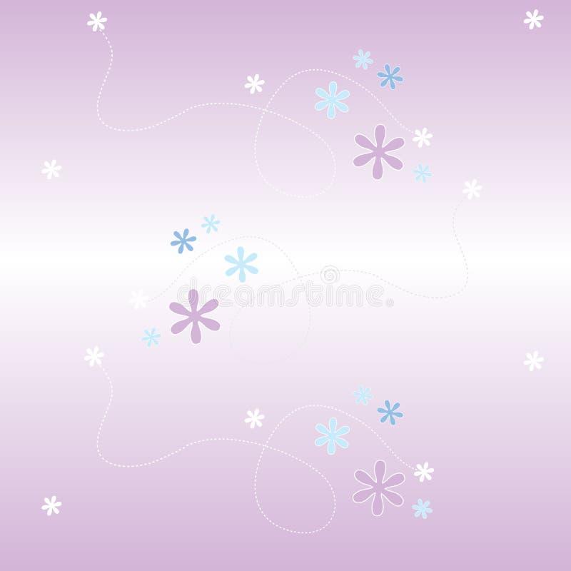 Malva da flor do teste padrão de Seemless ilustração stock