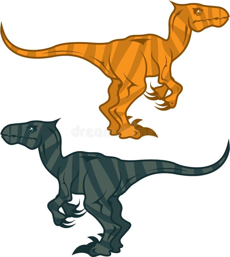 Malvagità del dinosauro illustrazione vettoriale