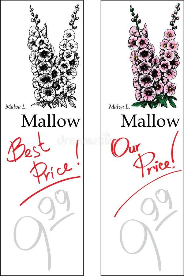 Malve - Twee Prijskaartjes stock afbeelding