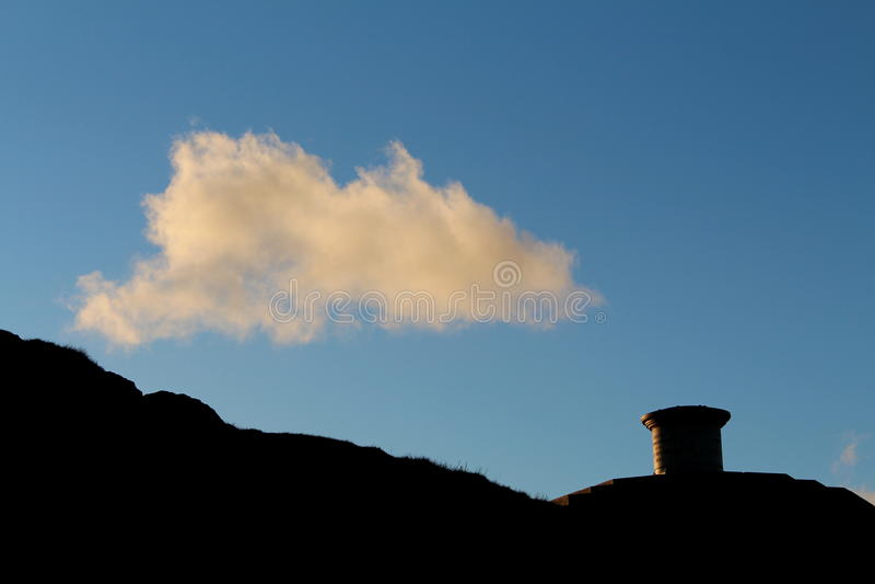 Malvern-Hügel-Sonnenuntergang lizenzfreies stockbild