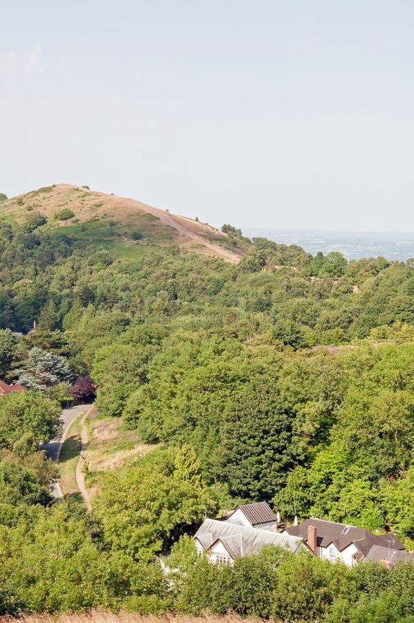 Malvern kullar i sommartiden arkivfoton