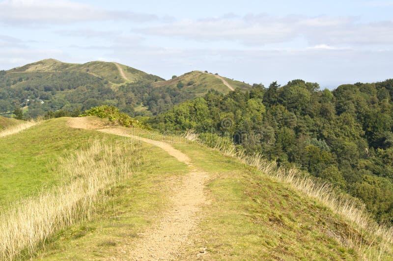 Malvern wzgórza toczny krajobraz obraz stock