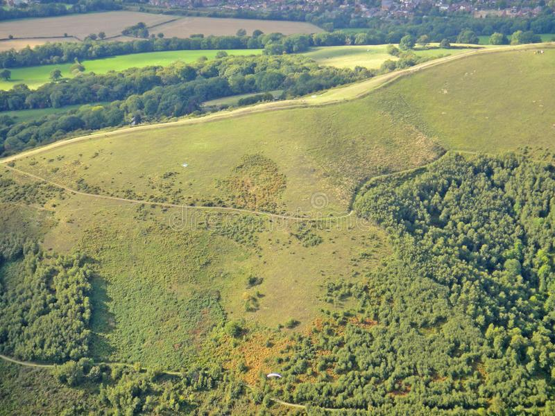 Malvern wzgórza, Worcestershire fotografia royalty free