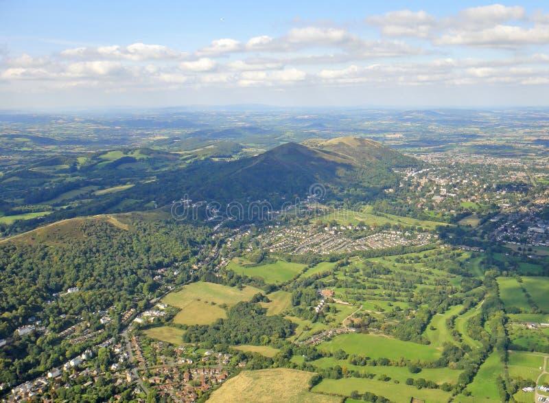 Malvernheuvels en Severn Valley stock fotografie