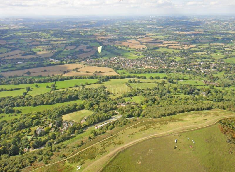 Malvernheuvels, Worcestershire stock afbeelding