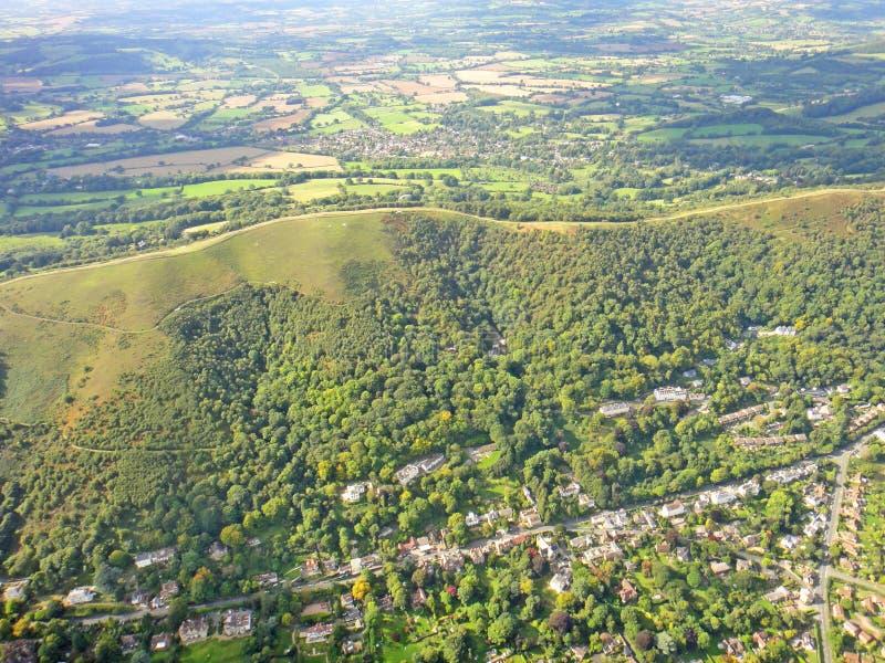 Malvernheuvels, Worcestershire stock foto's
