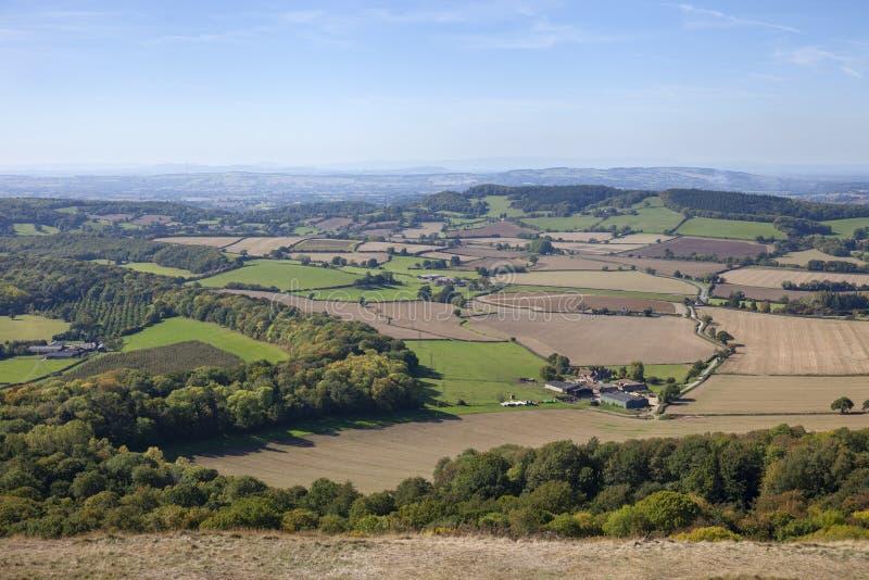 Malvernheuvels, Worcestershire, Engeland stock foto's