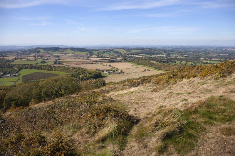 Malvernheuvels, Worcestershire, Engeland royalty-vrije stock afbeeldingen